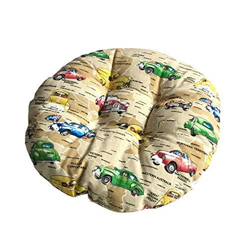 FKIHK SitzkissenSitzkissen American Cotton Linen Dekokissen Futon Tatami Pouf Runde Matte Für Schlafsofa Weiches Stuhlkissen, 06,40x40cm