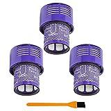 LOVELY Accesorios para Aspiradora Unidad de Filtro Lavable for 3pcs Dyson V10 SV12 ciclón Absolute Total Clean aspiradora de vacío Filtro HEPA Reemplazo (Color : Purple)