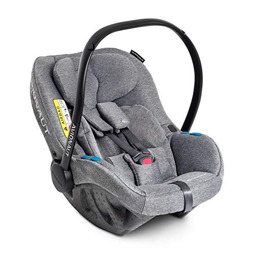 Avionaut Pixel Babyschale, der weltweit leichteste Kindersitz, Baby-Autositz Gruppe 0+ (0-13 kg, 40 cm - 86 cm), nutzbar ab der Geburt bis ca. 12 Monate, Gray Melange