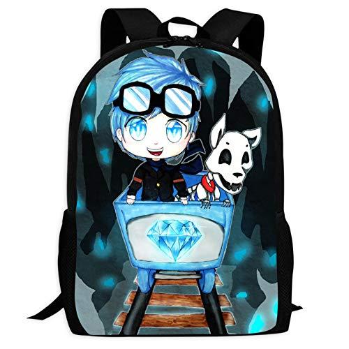 Dantdm Dan T-D-M 3D Print Backpack School Bag Student Bookbag for Girls Boys
