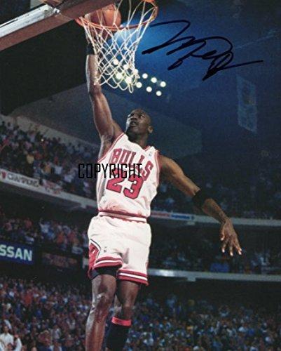 Michael Jordan basketball fotografia firmato edizione limitata + stampato Autograph