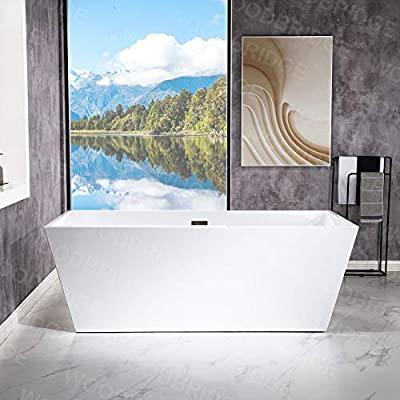 WOODBRIDGE B-0003-B/N-Drain &O Bathtub, White