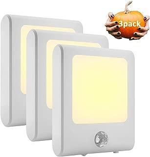 Harmonic Night Light,Plug in Dusk to Dawn Sensor Led Night Lights with 3 Modes,Brightness Adjustable Warm Dimmable Motion Sensor Night Lights for Hallway,Bedroom,Stairway,Energy Efficient