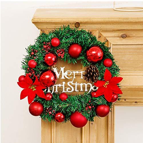 Ghirlanda di Natale, Corona di Natale con Bacche di Pino, Decorazione di Natale, Ghirlanda Decorativa per Porte e Finestre, Corona Ornamento di Natale, per Decorazione di Porte e Finestre di Natale