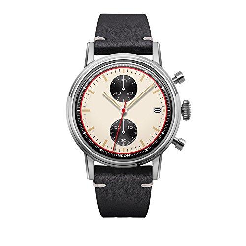 Undone Herren Uhr Chronograph Hybrid Quarz Mechanisch Edelstahl Leder Newman