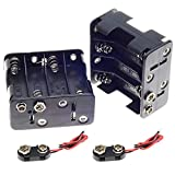 2Set 8 x AA Thicken Battery Holder with I Type Wired Battery Clip Standard Snap Connector