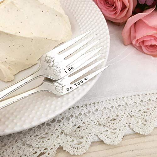 I do & me too wedding cake forks
