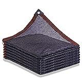 WBXZAL 80% Rete ombreggiante Rete Nera Protezione Solare con Buchi Telo ombreggiante reti ombreggianti, in Tessuto Isolante per coperture terrazza Piscina pianta Protettiva -6-pin-8x8m / 26x26ft.
