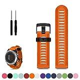 Garmin Fenix 3 / 3HR GPS Multisport Uhr Ersatz Uhrenarmband Bügel, iFeeker Zusatz weiches Silikon Gel Handgelenk Bügel Band Armband für Garmin Fenix 3 / HR GPS-Multisport-Uhr
