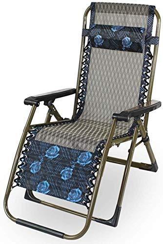 Tragbare Patio Lounge Stühle Chaise Lounges Lounge Stühle Für Sonnenbräune, Klappbarer Schwerelosigkeitsstuhl Verstellbarer Camp Reclining Breathable Lawn Chair Support 250Lbs