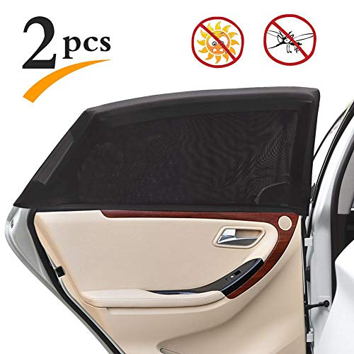 2-Piece Universal Car Side Window Mesh UV Sun-Shade Screen Set STOCK CLEARANCE