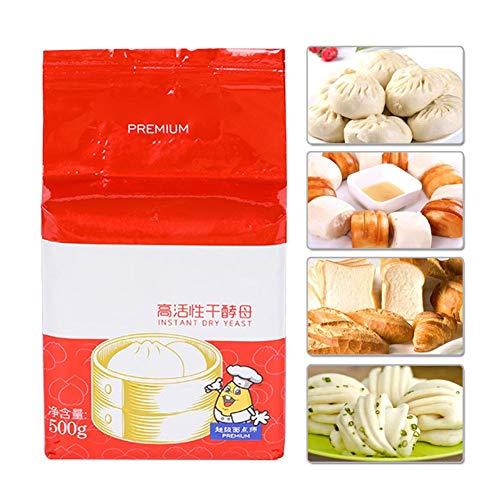500G levadura de panadería, levadura seca instantánea activa resistente polvo de levadura seca probiótica saludable de alta actividad polvo de levadura seca probiótica saludable de alta actividad