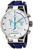 Locman Montecristo / orologio uomo / quadrante bianco / cassa acciaio e titanio / cinturino gomma blu