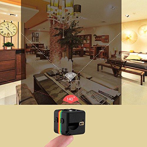 Mini Kamera,Full HD 1080P Tragbare Kleine Überwachungskamera, mit Bewegungserkennung und Infrarot Nachtsicht,Intelligente Loop-Aufnahme