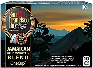 San Francisco Bay OneCup Jamaican Blue Mountain Blend 10 Count- Single Serve Coffee Compatible with