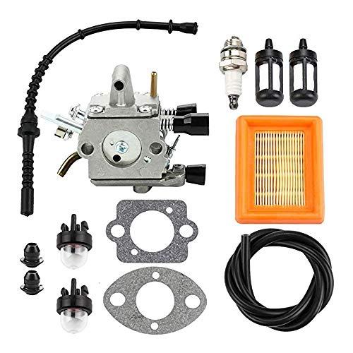 Duradero 1PCS filtro de combustible del carburador Bombeador combustible Remotorización Kit apto for Stihl FS120 FS200 FS250 FS300 FS350 FR350 FR450 cortabordes Reemplazar carburador