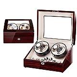 Uhrengehäuse Automatische Wicklerbox Uhren Rotationslagerung Holzlager Home 4 Tischvitrine Zur Vermeidung von Staub