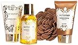 guylond Vanilla Musk Collection Bath Set en Decorative Tray, 1er Pack (1x 200g)