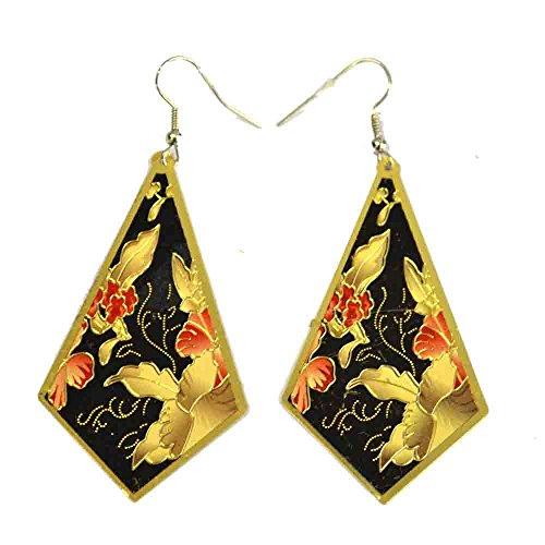 Innocent Lifestyle ED Diamant Ohrringen Damen schwarz creme one size zurückhaltenden Party tragen, Schwarz, One size