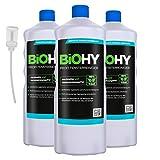 BiOHY Limpiacristales profesional (3 botellas de 1 litro) + Dosificador   Limpiador concentrado de vidrios, para de ventanas   Limpieza optima de vidrios, ventanas y espejos (Profi Fensterreiniger)
