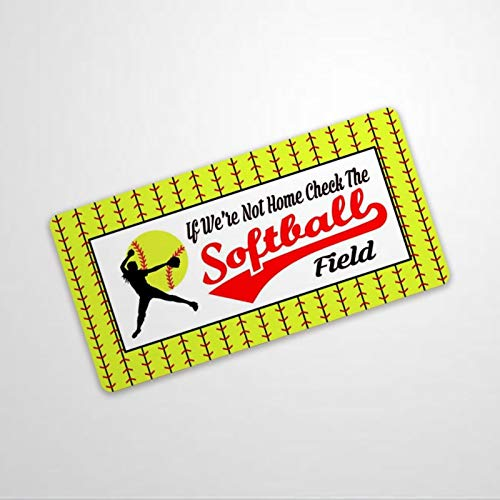 BYRON HOYLE Señal de Softball con forma de campo de bola, de aluminio, divertido cartel de metal, decoración de pared, cartel de pared, diseño vintage