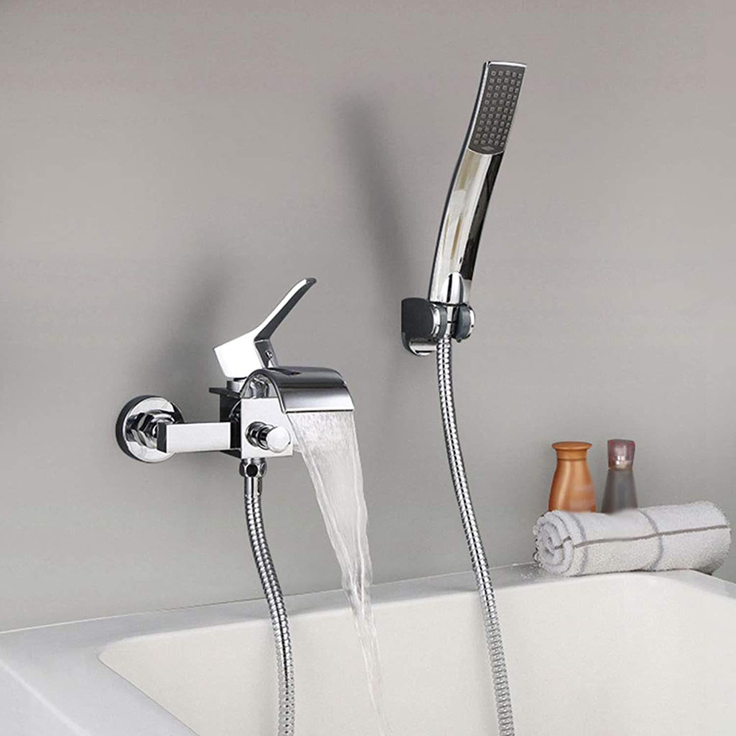 LXKY Faucet - In-wall concealed bathtub faucet, hot and cold water with shower faucet