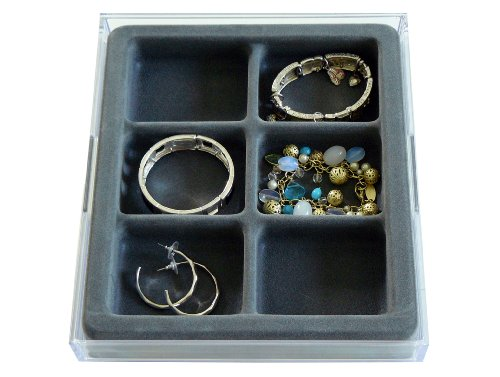 Watches, Bracelets and Large Earring Jewelry Organizer with Velvet Tray, US Patented