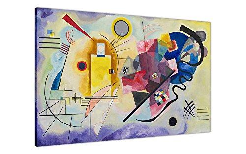 Leinwandbild, Kunstdruck von Yellow-Red-Blue von Wassily Kandinsky, Fotodruck zur Dekoration, Nachdruck eines Ölbildes, canvas, Blue/Red/Yellow, 3- 20