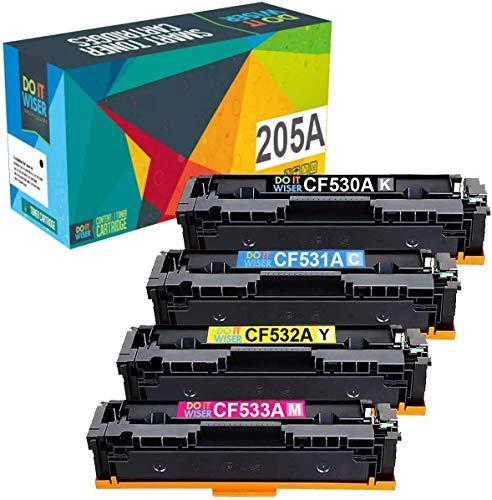 Do it wiser Cartuccia toner Compatibile con Stampante HP 205A CF530A CF531A CF532A CF533A per HP Color Laserjet Pro M181FW M181 M180 180N M154A M154NW M154 (1Nero, 1Ciano, 1Magenta, 1Giallo)