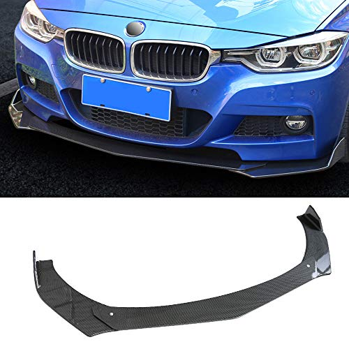 Kyostar 3PC Universal Front Bumper Lip Body Kit Spoiler GT Style ABS Front Bumper Lip Spoiler Wing Body Fits For Honda Civic,Nissan,BMW,Mercedes,Audi,Infiniti,Toyota(Carbon Fiber Pattern)