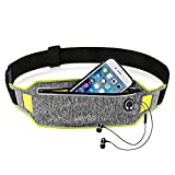 iPhone 11 Running Belt iPhone 8 Plus Waistband Sweatproof Running Pouch Belt for iPhone Xs/Max/XR/iPhone 7 Running Fanny Packs for Women & Men, Reflective Waist Pack Belt