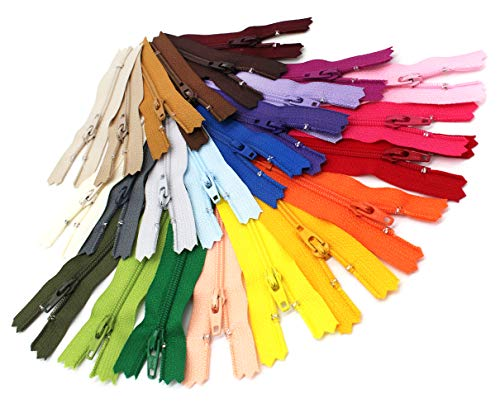 "Zipperstop Assorted 7"" 3 COIL for Crafts~YKK (25 Zippers/Pack)~MADE IN USA, Multi-colored Piece"