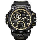 SMAEL Sportuhren Für Männer wasserdichte LED Digitaluhr Herren Armbanduhr Uhr Mann Military Big Herren Uhren 1545C,A