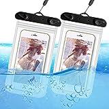 ORIbox Universal Waterproof Pouch Phone Dry Bag Underwater Case for iPhone 12 11 Pro Max XS Max XR X 8 7 6S Plus SE 2020 12 mini Galaxy Pixel, Black(2 Packs)
