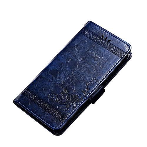 CiCiCat Cover Custodia UMIDIGI F1/F1 Play, Ultra Sottile e Anti-Graffio Flip Folio Custodia Cover Case Protettiva Custodia Pellicola per UMIDIGI F1/F1 Play Smartphone.(6.3'', Blu)