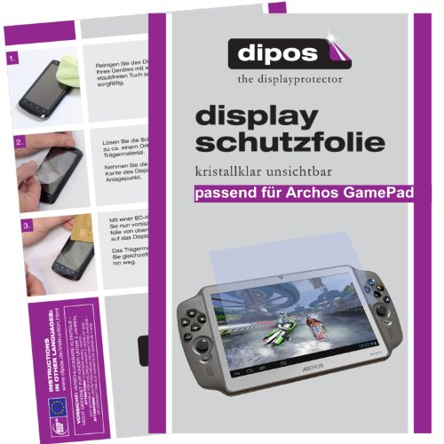 dipos I 2X Schutzfolie klar kompatibel mit Archos Gamepad Folie Displayschutzfolie