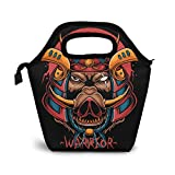 BONUS ET SALVUS TIBI (BEST) Samurai Boar HeadLunch Bag Tote