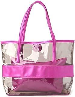 Ms. Transparent Shopping Bag Jelly Transparent Beach Handbag Tote Shoulder Bag Luxury