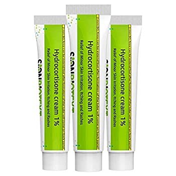 Hydrocortisone Cream 1% Anti Itching Max Strength Ointment by Sion Medical Treats Skin Irritation Itch Rash Relief Mosquito Bites Eczema Psoriasis for Adults & Kids Value Pack  3 Tubes 1 oz Each