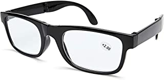 TT WARE Mens Womens Portable Scalable Lightweight Reading Glasses With Case Anti-fatigue Presbyopic Glasses-Black-2.0