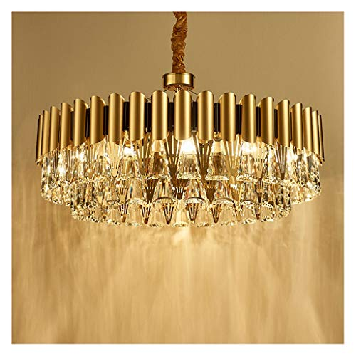 Nordic postmodern Licht Luxus-Kronleuchter, Wohnzimmer, Esszimmer Schlafzimmer Studie Kristall-Kronleuchter, atmosphärisch Kronleuchter (Size : 80cm)