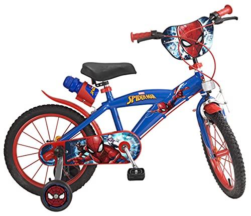 Toims 874 Spiderman Bicicletta per bambini 14 ', 3-5 anni