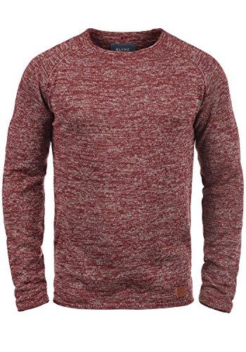 Blend Dan Herren Strickpullover Feinstrick Pullover Mit Rundhals Und Melierung, Größe:S, Farbe:Andorra Red (73811)