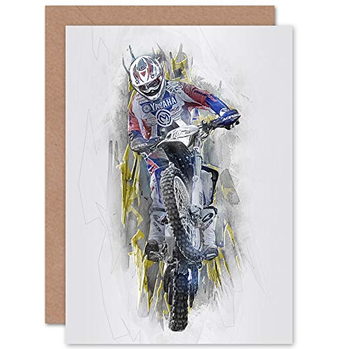 Fine Art Prints Dirt Bike Motocross Sport grafische groeten kaart