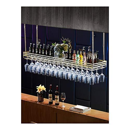 ALBBMY Glashalter Vitrine Weinglashalter unter dem Schrank stemware Rack unter Schrank (Color : Length 120 Width 35CM Glacier White)