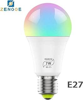 luoOnlineZ Lampadina LED Smart WiFi E27//E14//B22 Focale Smart con Controllo WiFi E14 Luce LED Colorato 15 W per Google Home