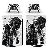 TSWEET The Last of Us PS5 Standard Disc Edition Cover per Adesivo Skin per Console Playstation 5 e 2 Controller Adesivo per Skin PS5