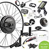 EBIKELING 48V 1500W 700C Direct Drive Rear Waterproof Electric Bicycle Conversion Kit (Rear/LCD/Thumb)