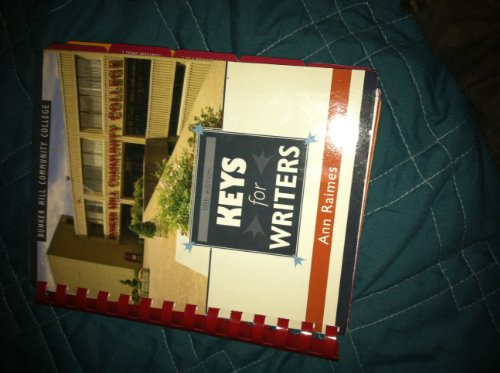 Keys for Writers: Fifth Edition (Custom Edition for Bunker Hill Community College)