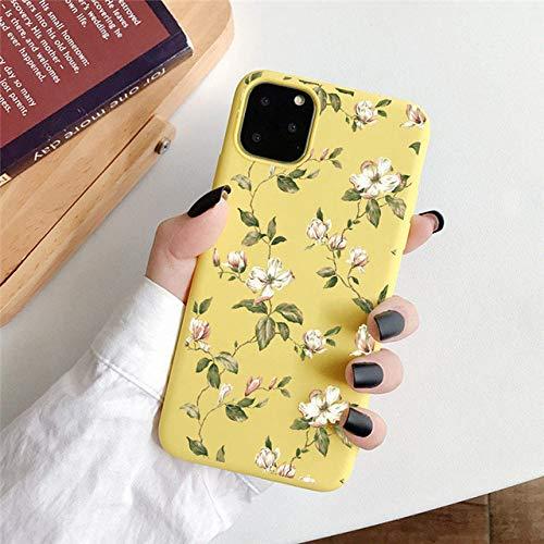 LIUYAWEI Estuche para teléfono Pretty Summer Daisy para iPhone 11 Pro MAX X XR XS MAX 6 6s 7 8 Plus SE 2020 Cubierta Trasera de corazón de Amor de Flor Suave, T12, para iPhone 11pro MAX